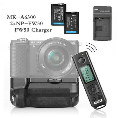 Meike MK-A6300 Battery Grip For SONY A6300 + 2* NP-FW50 Battery + USB Charger