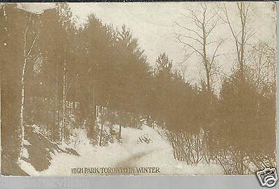 Toronto High Park in Winter  _ c. 1910 Unposted Postcard