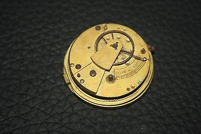 Antique Fusee Pocket Watch Movement For Spares
