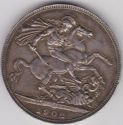 1902 Edward Vii Silver Crown In Good Very Fine Condition