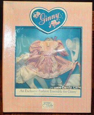 Vintage 1988 Ginny doll clothes 71-0080C CANDY CANE vogue NRFB white pink dress