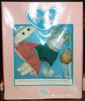 Vintage 1988 Ginny doll clothes 71-0090E PICNIC TIME vogue NRFB green romper