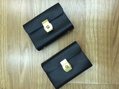 Split Leather Business Case Wallet ID Credit Card Holder Purse for 26 Cards