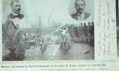 CPA-A245-ACCIDENT CAPITAINE ROSSANDER & COCHER Dr MEUSE-ANVERS-1/1/1902
