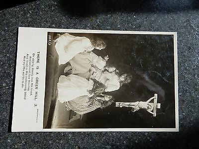 Early real photo Bamforth Photo Song postcard- There is a green hill - 3