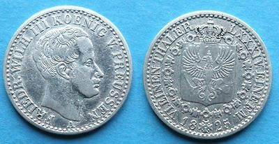 Prussia 1/6 Thaler 1825 A Silver Coin German State
