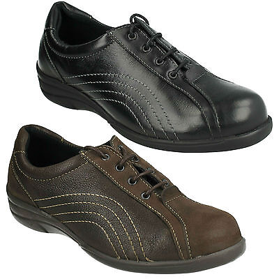 Db Easy B Melina Ladies Lace Up Flat Leather Casual Wide Fit Casual Smart Shoes