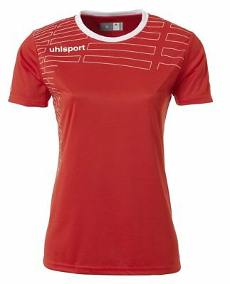 Uhlsport Womens Team Sports Football Kit Short Sleeve Shirt Top Shorts Red ...
