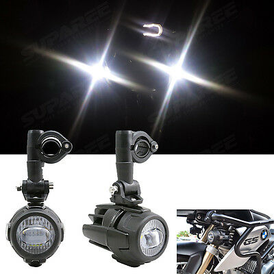Pair 40W Cree LED Auxiliary Passing Lights Fog Spot Lamps For BMW Motorcycles