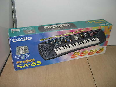Casio Sa-65 Song Bank Electronic Keyboard Tested With Original Box