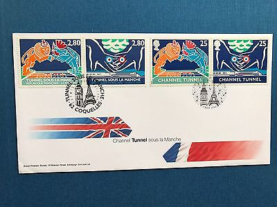 Great Britain, 1994 Channel Tunnel France/UK Duel Currency Pair Of FDC's