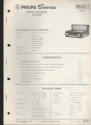 """Philips """" Autosuper N6D21T Coupe """" / Service Anleitung - service manual"""