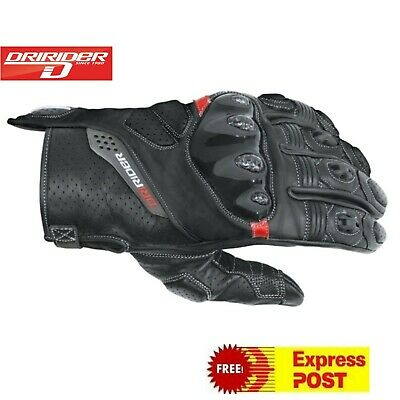 DRIRIDER RAPID STREETFIGHTER MOTORCYCLE GLOVES New LEATHER SHORT Med to 3XL