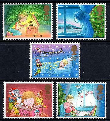 GB 1987 Christmas Complete Set SG1375 - 1379 Unmounted Mint