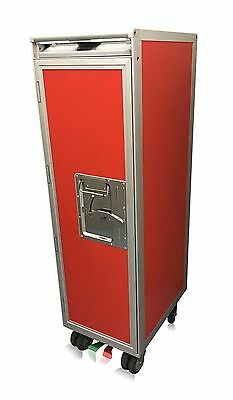 New Red Airline Aircraft Half-Size Catering Cart / Trolley