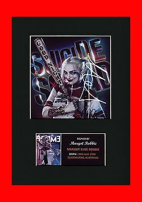 Margot Robbie Harley Quinn Suicide Squad signed pre print mounted picture new