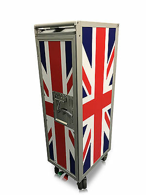 New Uk Flag Design Airline Aircraft Half-Size Catering Cart / Trolley