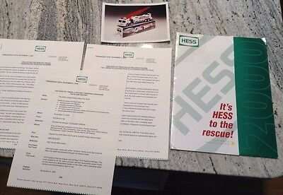 2000 Hess Toy Truck Press release package