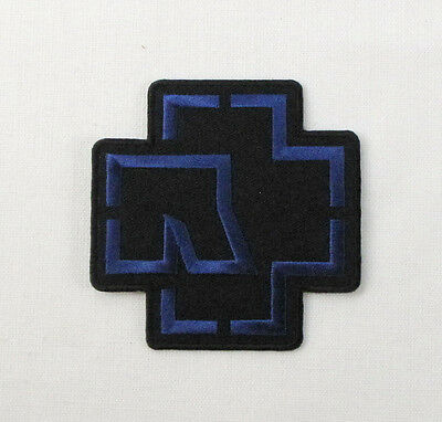 RAMMSTEIN BLUE  Embroidered Iron On Sew On Patch Heavy Rock Band