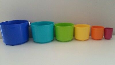Tupperware Totem Pails buckets Perfect for the Beach this Summer! EUC