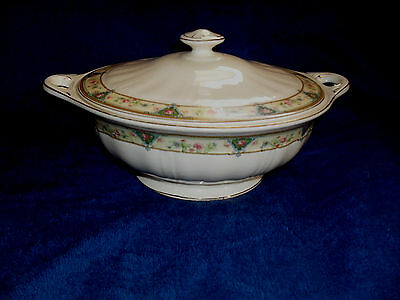 Vintage STEUBENVILLE Ivory China Pattern # STB172 Vegetable Bowl w/Lid