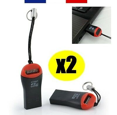 2 X READER Adapter Clé USB 2 0 for Memory Card Micro-Sd up to 32gb 32gb