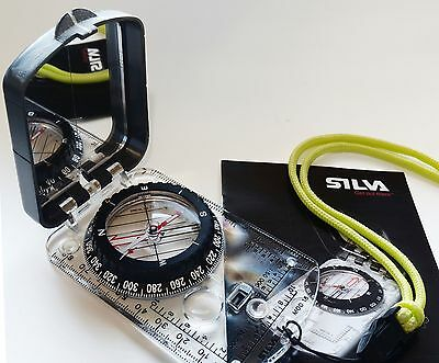 Silva 15TDCL 6400 Military Army Hiking Cadet Scout Map Mirror Sighting Compass