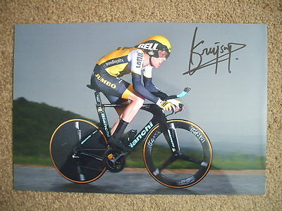 Steven Kruijswijk Lotto Jumbo Signed 12X8 Inch Photo