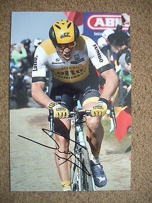 Sep Vanmarcke Lotto Jumbo Signed 12X8 Inch Photo
