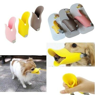 2017 New Adjustable Dogs Muzzle Quack Closed Duck Bill Design Protective Cute Ma