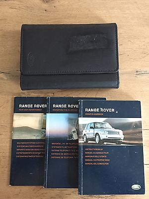 Land Rover Range Rover Owners Manaul / Bookpack/ Hanbook With Wallet