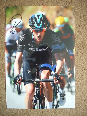 Wout Poels Team Sky Signed 12X8 Inch Photo #1