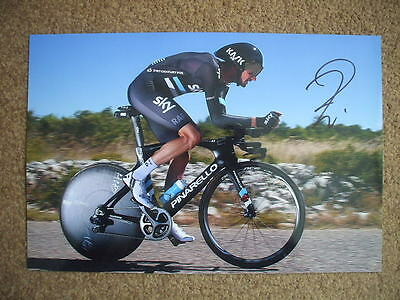 Wout Poels Team Sky Signed 12X8 Inch Photo #2
