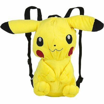Pokemon 3D Pikachu Plush Backpack Schoolbag Adjustable Nintendo Rucksack NEW