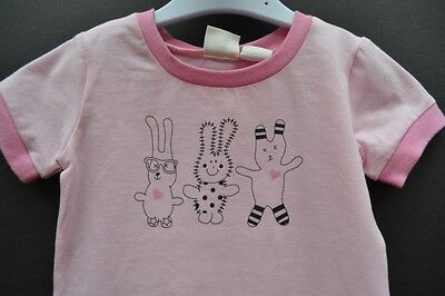 Milky baby girl Sz 2 summer pyjamas pjs sleepwear BNWT pink new rabbits