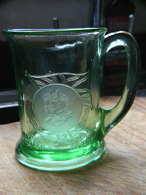 Green Glass Silver Jubilee Mug King George V