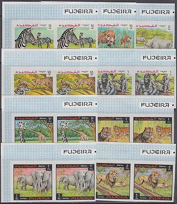 Fujeira MNH set without perf, Animals