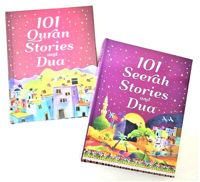 101 Quran + 101 Seerah Stories and Dua  -  2 Books Set (Hardback)
