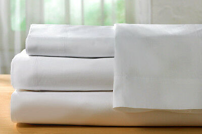 Sheet Set - 1200 Thread Count Beautiful Queen Sheet Set in White Cotton Rich