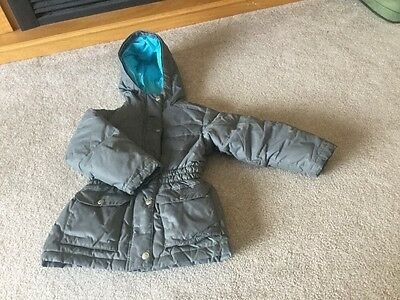 Girls Hanna Andersson Down Puffer Hooded Parka Jacket Coat Gray Size 110