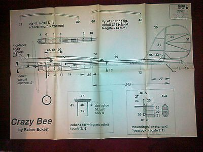 Crazy Bee Rc Slow Fly Model Plan