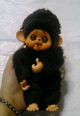 Vintage Japan Daisuke Toho Monchhichi Plush Monkey Bear Doll Open Close Eyes EUC