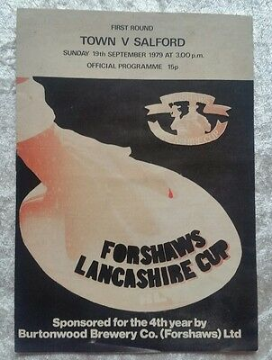Workington Town v Salford 19th September 1979 Lancashire Cup 1st Rd @ Workington