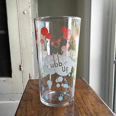 Vintage BUBBLE UP Soda Pop Glass Red White and Blue Bubbles Logo