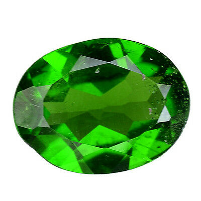1.400 Cts Attractive Luster Green  Natural Chrome Diopside Oval Gemstones