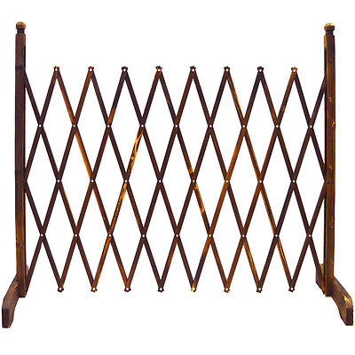 Trellis Expanding Garden Screen Solid Wood Fence Burntwood Divider ZLY-5026
