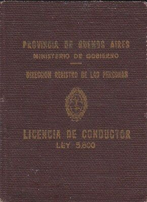 Argentina, 1974, Vintage Vehicle Driving License / Permit