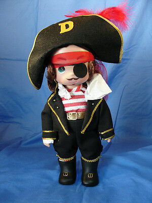 "Pirates of the Caribbean 12"" Doll Disney Precious Moments Pirate #4803"