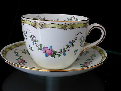 Vintage Crown Staffordshire England Tea Cup/Saucer Numbered F6242