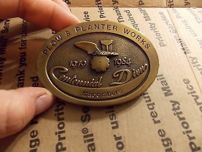 John Deere Plow & Planter Works; Macomber Centennial 1984 Belt Buckle (LOT A)